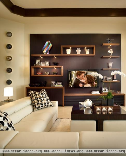 Adelson - contemporary - family room - detroit