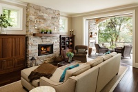 Furnace Street Riverfront - traditional - living room - portland