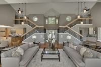 Contemporary in Deephaven - contemporary - living room - minneapolis
