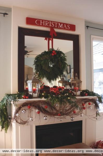 Our Living Room Mantel - Christmas 2010... - contemporary - living room - seattle