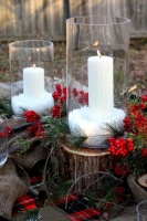 Christmas Tablescape - traditional - dining room - other metro