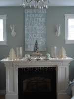 My holiday mantel - contemporary - living room - other metro