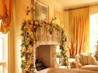 Christmas Interior - traditional - living room - houston