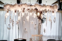Snowy Chandelier - contemporary - dining room - grand rapids