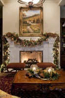 Traditional Christmas Living and Dining Room - traditional -  - austin