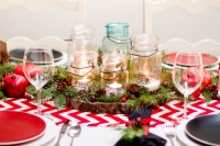 Winter Tablescape - eclectic - dining room - new york