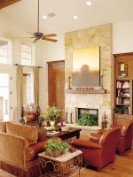 Family Room With Texas Flair