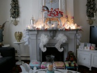 shabby chic white livingroom - eclectic - living room - new york
