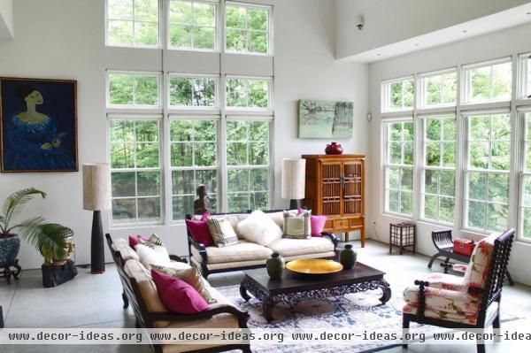 My Houzz: Rockstar vibe meets New England dream home - eclectic - living room - burlington