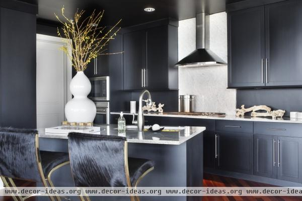 Contemporary Eclectic Hollywood Regency Kitchen