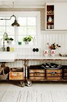 Country Scandinavian Vintage Kitchen