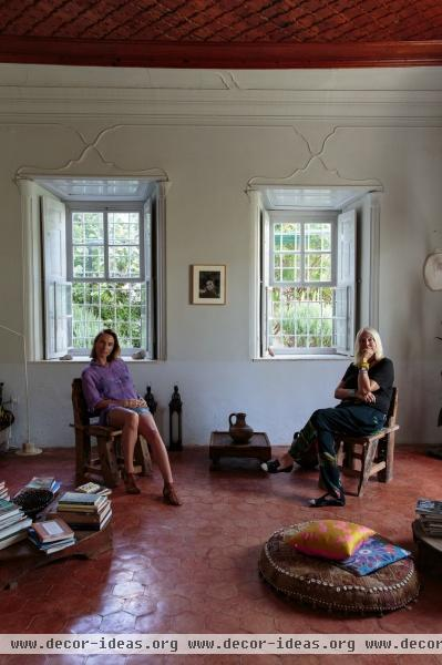Bohemian Eclectic Mediterranean Living Room