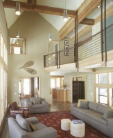 Ski House - traditional - living room - other metro