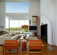 Interiors of the Mill Neck Residence - modern - living room - new york