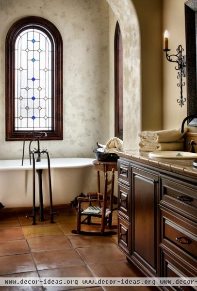 lake conroe spanish mediterranean bathroom austin
