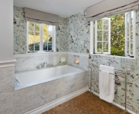 Bathroom Wallpaper! - traditional - bathroom - santa barbara