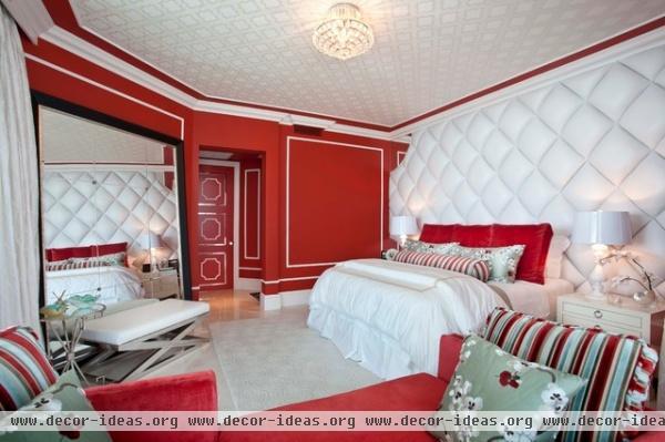 DKOR Interiors - Interior Design in Sunny Isles, FL Hollywood Regency - eclectic - bedroom - miami