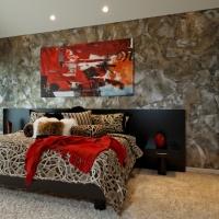 Torn wallpaper - contemporary - bedroom - omaha