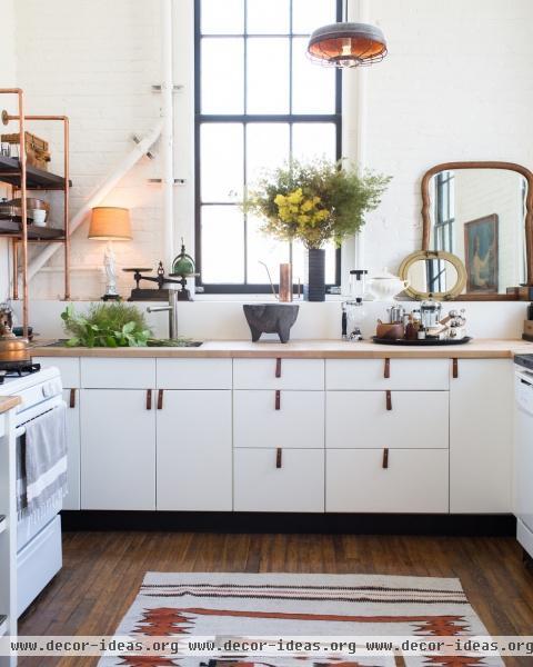 Bohemian Rustic Scandinavian Southwestern Vintage Kitchen