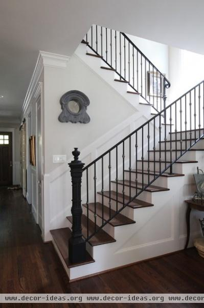 traditional staircase by Cedar Hill Interiors