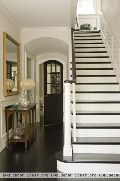 transitional entry by Tim Barber LTD Architecture & Interior Design