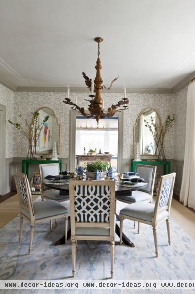 contemporary dining room by DC Design House