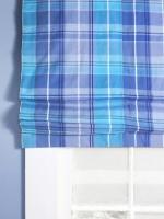 Plaid Blue Roman Shade : Designers' Portfolio