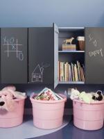 Chalkboard Paint on Storage Cabinets : Designers' Portfolio