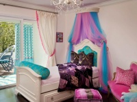 Eclectic Girls Room: Pink and Blue Toile Accents : Designers' Portfolio
