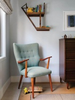 Mid-Century Modern Upholstered Armchair in a Kid's Room : Designers' Portfolio