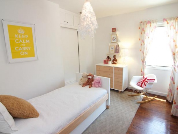White Modern Furniture With Pops of Color in Bedroom : Designers' Portfolio