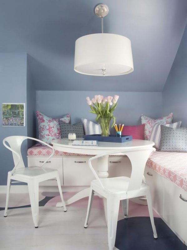 Kid-Sized Table and Banquette Seating for Homework : Designers' Portfolio