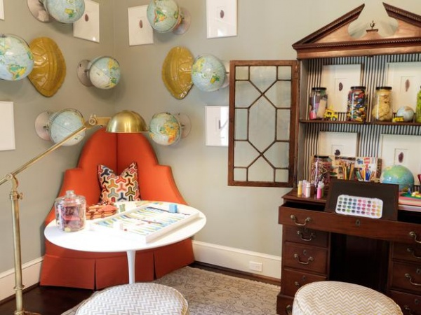 Craft Corner in a Kids Room with Art Supplies : Designers' Portfolio