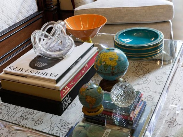 Traditional Kids Room Dresser with Globes and Tom Ford Book : Designers' Portfolio