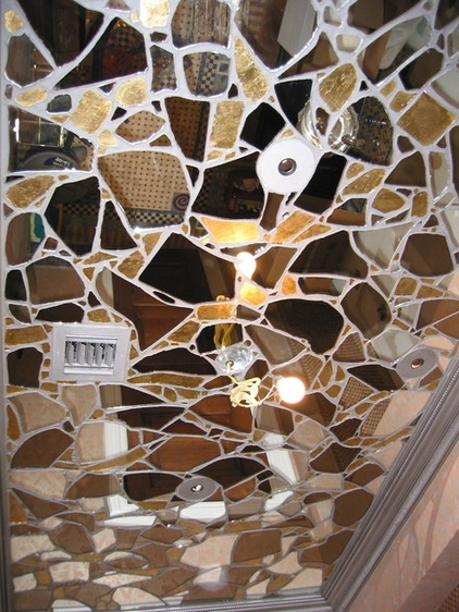 Mirror ceiling tiles