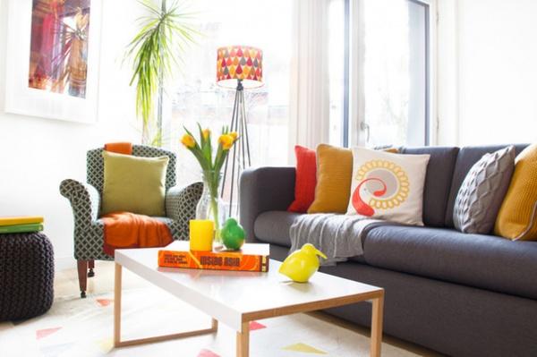 houzz tour: refreshing citrus twist in a london home - decor ideas
