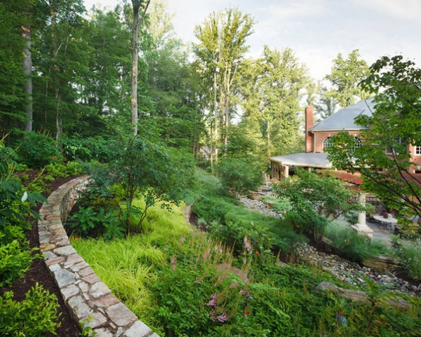Soak it up how to manage stormwater in your landscape for Garden designs for steep slopes