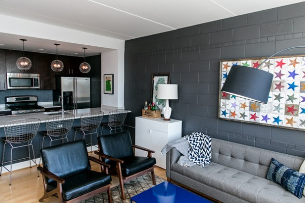 Room Of The Day Concrete Block Goes Chic In A Living