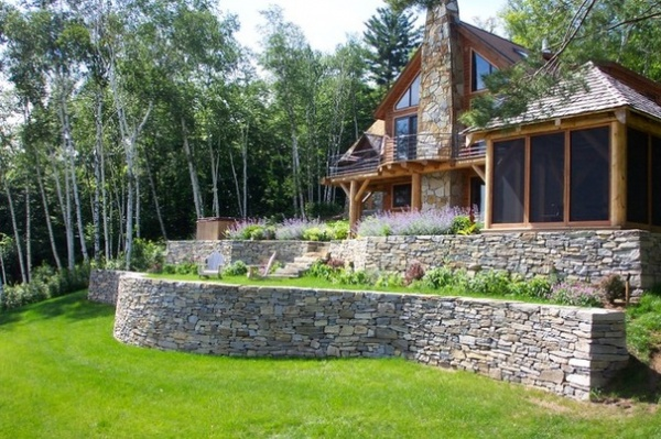 Garden Walls Dry Stacked Stone Walls Keep Their Place In