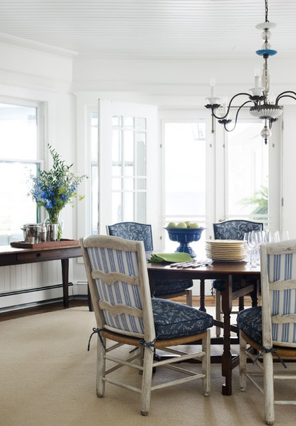 Beach Style Dining Room by Tom Stringer Design Partners