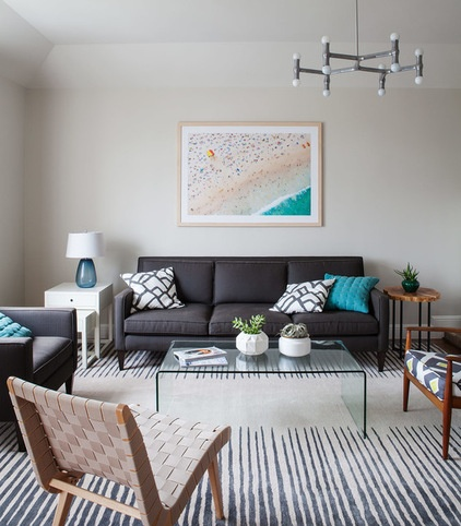 Contemporary Living Room by Christy Allen Designs
