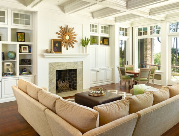 Transitional Living Room by Margaret Donaldson Interiors