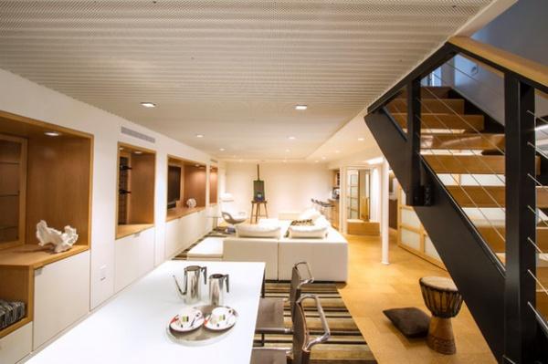 Contemporary Basement by Princeton Design Collaborative