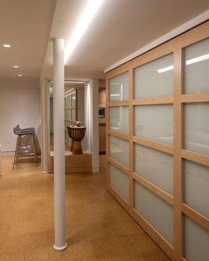 Midcentury Basement by Princeton Design Collaborative