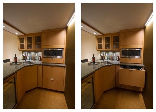 Modern Home Bar by Princeton Design Collaborative