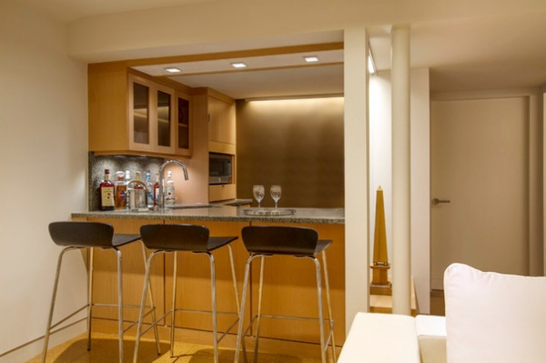 Contemporary Home Bar by Princeton Design Collaborative