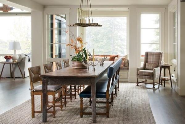 Rustic Dining Room by Massucco Warner Miller Interior Design