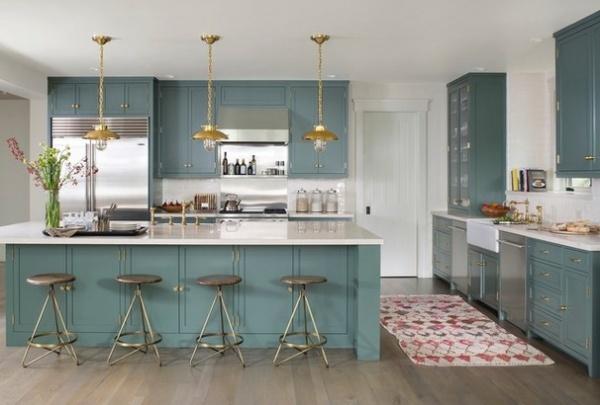 Transitional Kitchen by Massucco Warner Miller Interior Design