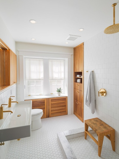 Scandinavian Bathroom by Osborne Construction