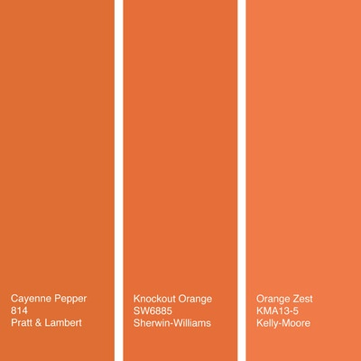 By Jennifer Ott Design With Orange Paint Colors